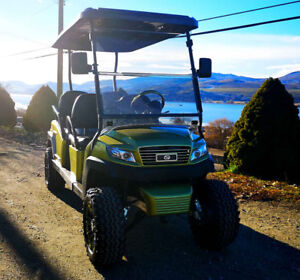 NXT Custom golf cart - Crystal Lime F4