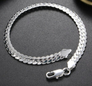 New silver bracelet necklace set see Pics