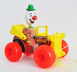 FISHER PRICE JOLLY JALOPY #724 EXCELLENT 1965 VINTAGE PULL TOY