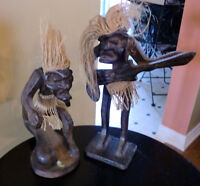 2 wooden sculptures from Indonesia