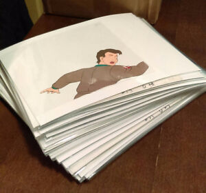 The Real Ghostbusters cartoon Original production cels