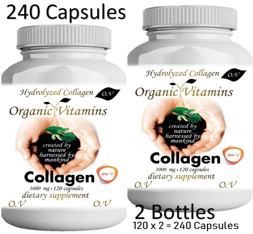 Pastillas De Colageno Hidrolizado Con Vitamina Para Cabello y Piel 240 capsules