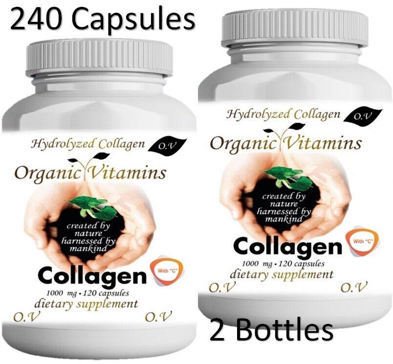 2 Hydrolized Collagen + Vitamin C  2 X 120 CAPS hidrolizado,hydrolyzed,colageno 1