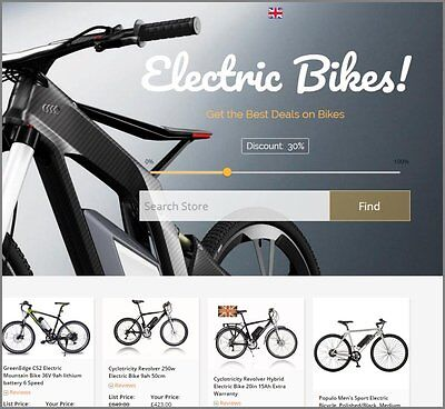 Electric Bikes Website Earn 561.00 A Salefree Domainfree Hostingfree Traffic