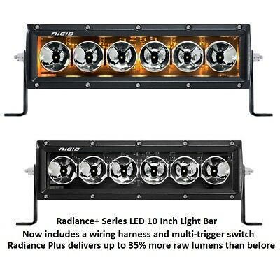 Rigid led off road lightsebay 1 rigid industries radiance plus with amber back light led 10 light bar mozeypictures Image collections
