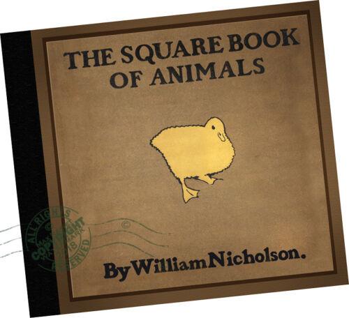 William Nicholson SQUARE BOOK OF ANIMALS 1899 British pig goat dog cow horse cat