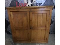 Stunning Old Large Pine Storage Cupboard Cabinet Maybe for TV - Uk Delivery