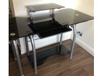 Desk black extendable