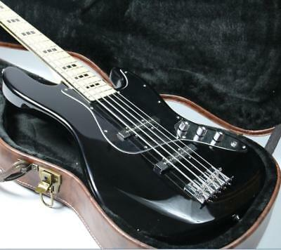 Cheaper 5 Strings JB Electric Bass Guitar Gloss Black Maple Fingerboard Instock