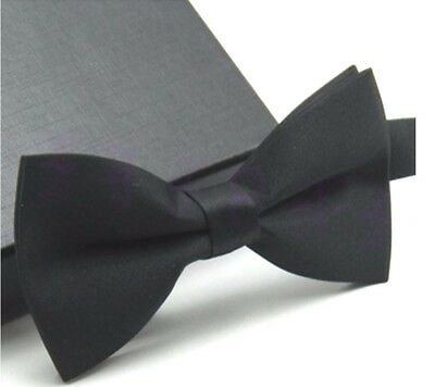 New Tuxedo PreTied Black Bow Tie Satin Matching Adjustable Band  US SELLER ()