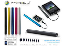 MiPow Power Tube 6600 External Power Bank Mobile phone Battery charger
