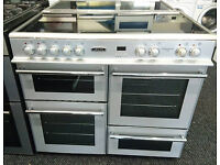 e029 silver leisure 100cm range cooker comes with warranty can be delivered or collected