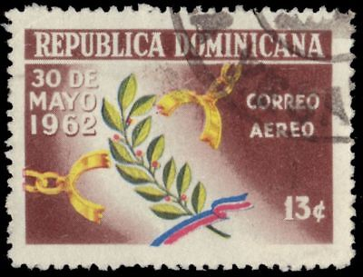 DOMINICAN REPUBLIC C122 (Mi784) - Broken Chains and Laurel Leaf (pa78243)