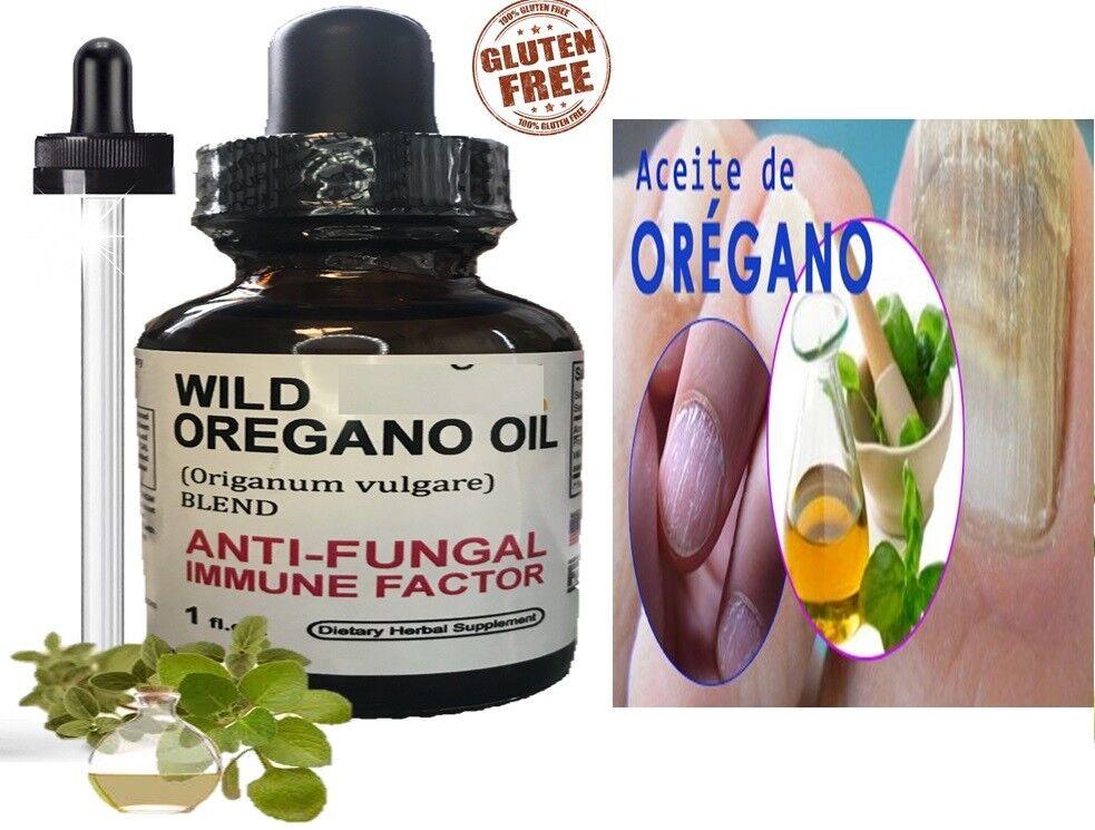Aceite De Oregano Organico Combate Candidiasis Pie De Atleta, Hongo de Uñas 1 oz