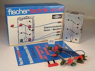 Fischertechnik 30246 em 10 Elektromechanik Relais Baustein OVP #102