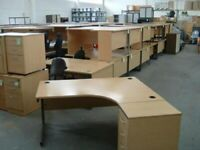 Quality Used Office Desk & Desk High Pedestal - FREE DELIVERY