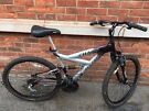Mens chaos magna  Full Suspension Mountain Bike - 18 Speed