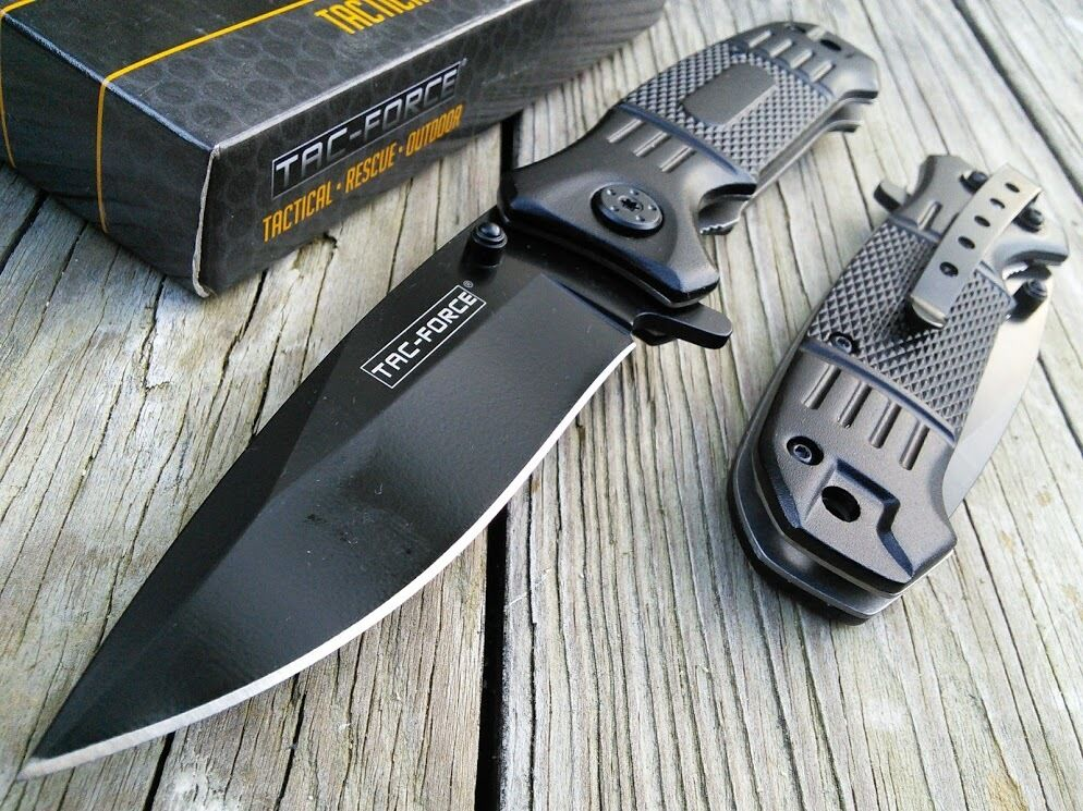 TAC FORCE SPRING ASSISTED TACTICAL EDC FOLDING POCKET KNIFE Folding Open Switch