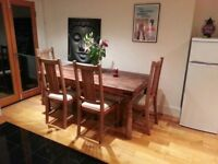 Used dining table and chairs 5/6 for sale!