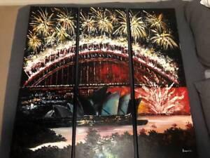 Large Sydney Harbour Bridge Painting
