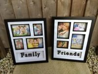 Black Photo Frames - 'Friends' and 'Family' - £10