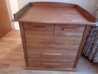 John Lewis Baby Changing Table / Chest of 5 Drawers - very good condition