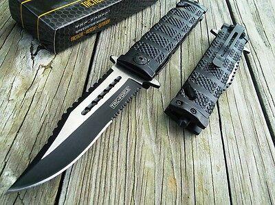 """8.5"""" TAC FORCE SPRING ASSISTED TACTICAL FOLDING POCKET KNIFE Blade Assist Open"""
