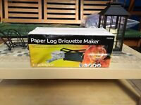 Paper log briquette maker