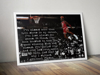 Motivational Poster (Michael Jordan Inspirational / Motivational Poster )