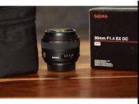 Sigma 30mm 1.4 EX DC for Nikon