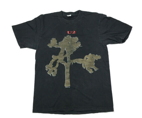 VTG U2 1987 Joshua Tree 2-Sided T-Shirt Tour Concert Hering Tag Men