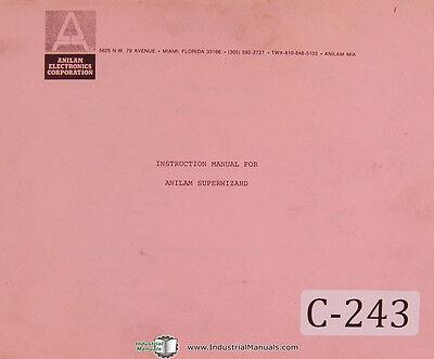 Anilam Super Wizard Cnc Control Operators Programming Manual