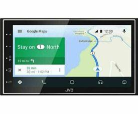 "JVC KW-M745DBT Digital Media Receiver - 6.8"" Display, Apple CarPlay, Android Auto, DAB and Bluetooth"