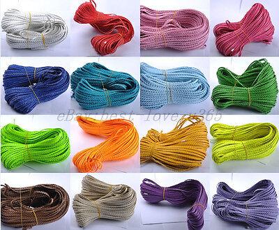 100M Man-Made Leather Braid Rope Hemp Cord For Jewelry Makin