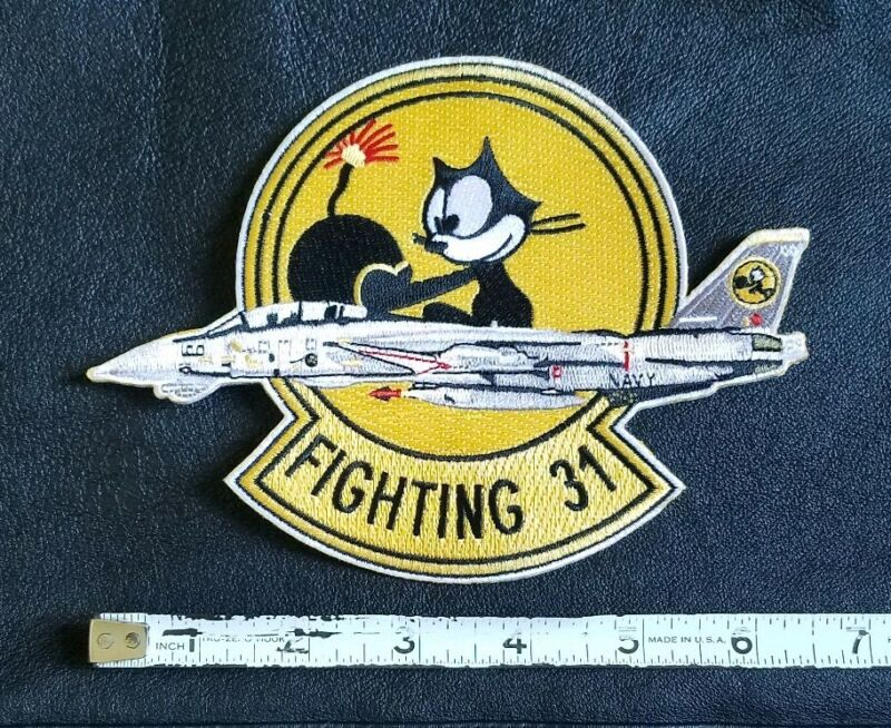 NAVY FIGHTING 31 Felix the Cat VF Tomcat FIGHTER PILOT MILITARY Patch
