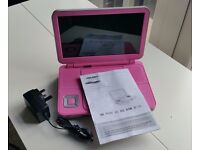 "10"" Portable DVD Player With Remote"