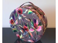 Colourful Ted Baker Round Vanity Case for make-up, jewellery, crafts or decoration