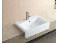 For sale NEW Stratos Large Semi Recessed Basin