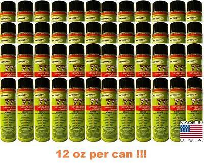 48 Cans 777 Speaker Box Carpet Fabric Liner Spray Glue Adhesive Instant Tack