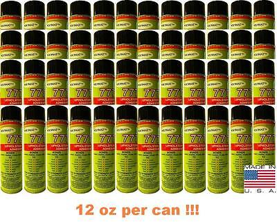 48 Polymat 777 PROFESSIONAL SPRAY GLUE ADHESIVE HIGH TACK BONDS FABRIC TO FABRIC (Bond Fabric Glue)