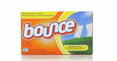 Bounce Fabric Softener Sheets, Outdoor Fresh 40 ea