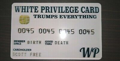 10PCS White Privilege Card Gag Novelty Wallet Size Collectable Laminated Gift