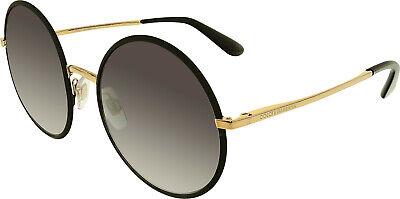Dolce & Gabbana Women's Gradient DG2155-12968G-56 Black Round (Dolce Gabbana Sunglasses Black)