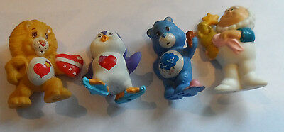 Vintage 1980's lot of four Care Bears,Care Bear Cousins and Cloudkeeper