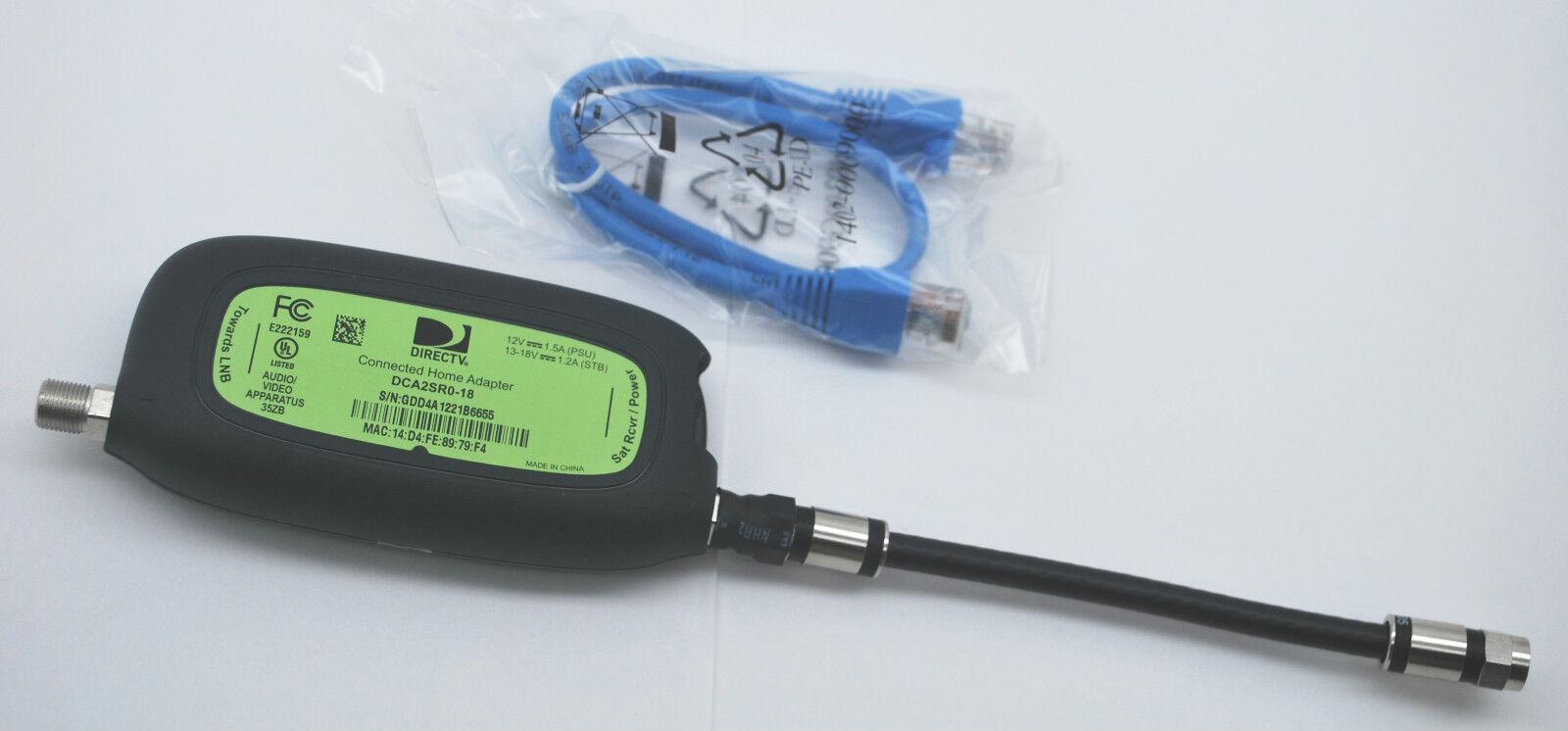 Directv Dca2sr0-18 Deca Ii Ethernet To Coax Home Adapter Multiroom Viewing Mrv