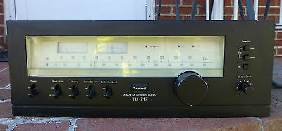 Vintage Sansui TU-717 AM FM Stereo Tuner Japan