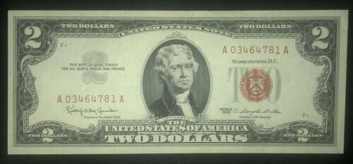 1963 $2 Red Seal Note - Unc