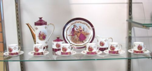 Beautiful Antique Porcelain Ten-Piece Tea Set made in Japan