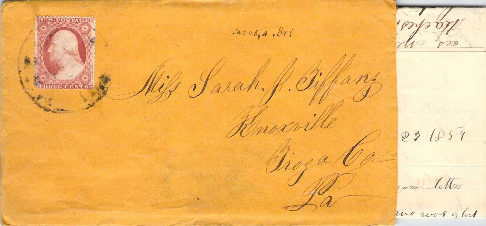 1859 CORRESPONDENCE GREEN GARDEN CRAZY COOL CANCEL POSTAL HISTORY