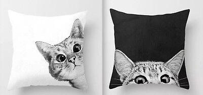 5 PIECE CAT SET! 2 CAT PILLOWS, 2 CAT WALL DECAL SET, CAT PAW STICKIES! 5 Piece Cats Paw